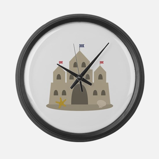 Sand Castle Large Wall Clock