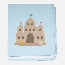 Sand Castle baby blanket