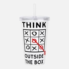 Think Outside The Box Acrylic Double-wall Tumbler