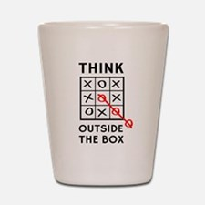 Think Outside The Box Shot Glass