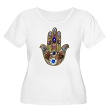 Hamsa Opal Design Plus Size T-Shirt