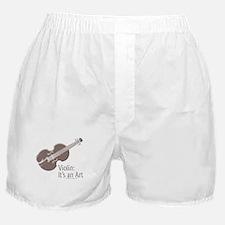 Violin It's An Art Boxer Shorts