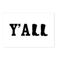 Y'ALL Postcards (Package of 8)