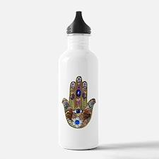 Hamsa Opal Design Water Bottle