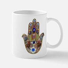 Hamsa Opal Design Mugs