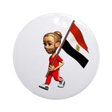 Egypt Girl Ornament (Round)
