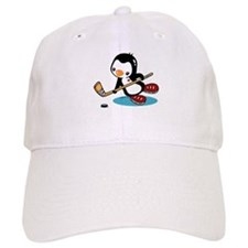 Ice Hockey Penguin Baseball Cap