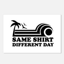 Same Shirt Different Day Postcards (Package of 8)