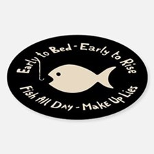 Early Fish Lies Sticker (Oval)