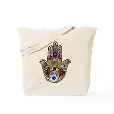 Hamsa Opal Design Tote Bag