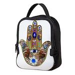 Hamsa Opal Design Neoprene Lunch Bag