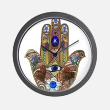 Hamsa Opal Design Wall Clock