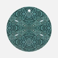 metallic tooled leather western Round Ornament