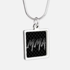 MMA Silver Square Necklace