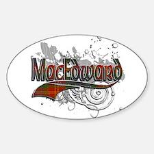 MacEdward Tartan Grunge Sticker (Oval)