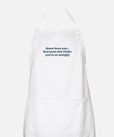 Cute Jesus loves you Apron