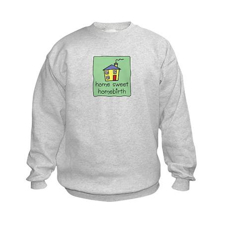 Home Sweet Homebirth Kids Sweatshirt