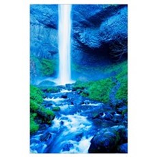 Elowah Falls, Oregon, Usa Poster