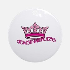 Jewish Princess Round Ornament