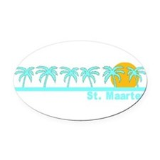 Cute St. martin Oval Car Magnet
