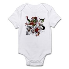 MacDuff Tartan Lion Infant Bodysuit