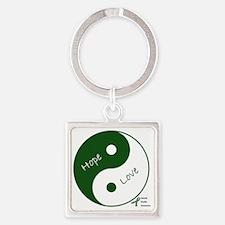 Yin Yang Hope Love Square Keychain