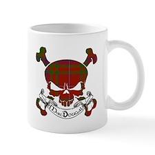 MacDougal Tartan Skull Mug