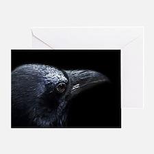 Crow Head Greeting Card
