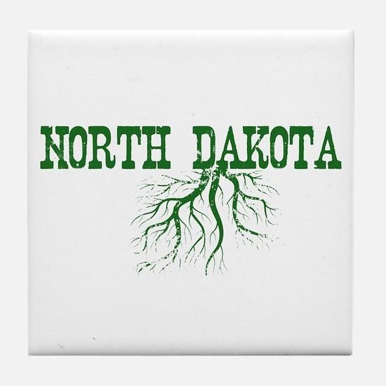 North Dakota Roots Tile Coaster