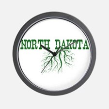 North Dakota Roots Wall Clock