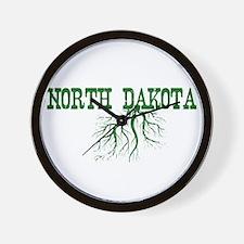 North Dakota Roots Wall Clock