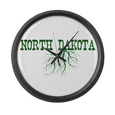 North Dakota Roots Large Wall Clock