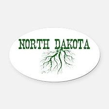 North Dakota Roots Oval Car Magnet