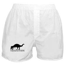 T-Rex Hates Push-Ups Boxer Shorts