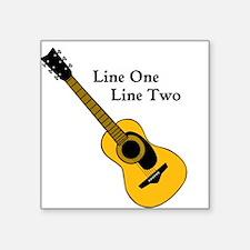 Custom Guitar Design Sticker