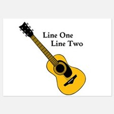 Custom Guitar Design Invitations