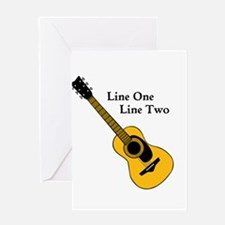 Custom Guitar Design Greeting Cards