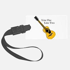 Custom Guitar Design Luggage Tag
