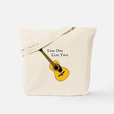 Custom Guitar Design Tote Bag