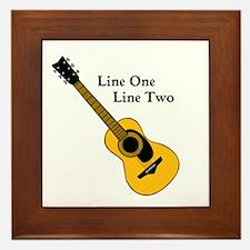 Custom Guitar Design Framed Tile