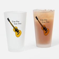 Custom Guitar Design Drinking Glass