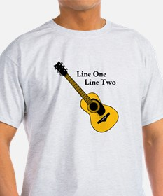 Custom Guitar Design T-Shirt
