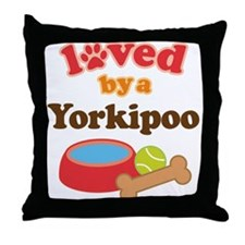 Yorkipoo Dog Lover Throw Pillow