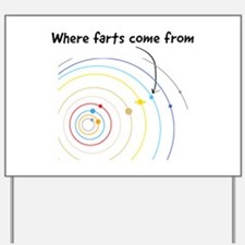 where farts come from Yard Sign