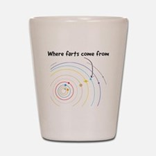 where farts come from Shot Glass
