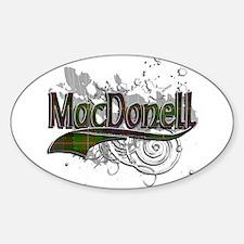 MacDonell Tartan Grunge Sticker (Oval)