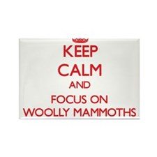 Keep Calm and focus on Woolly Mammoths Magnets