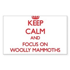Keep Calm and focus on Woolly Mammoths Decal