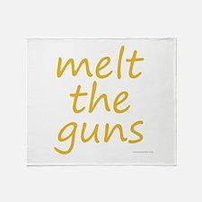 melt the guns Throw Blanket
