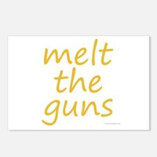 melt the guns Postcards (Package of 8)